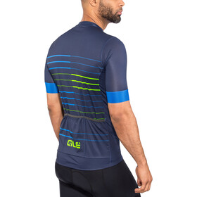 Alé Cycling Solid Ergo SS Jersey Herre blue-flou green